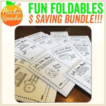 Speech and Language Fun Foldable Booklet BUNDLE