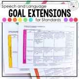 Speech and Language Goal Extension Sheet