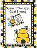 Speech and Language Goal Sheets for Students