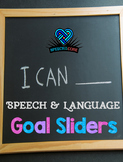 Speech and Language Goal Sliders