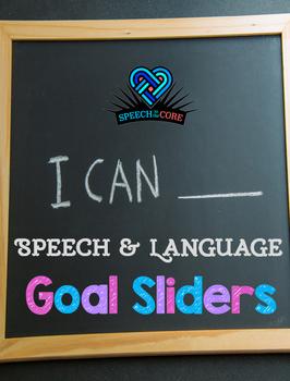 Speech and Language Goal Sliders