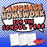Language Homework for the School Year