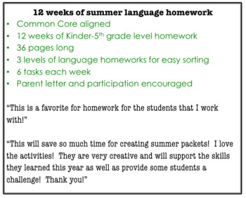 Speech and Language HW for the Summer