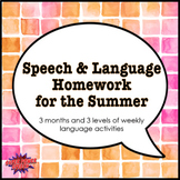 Language Homework for the Summer
