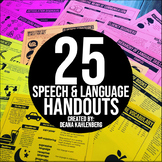 Speech and Language Handouts for Parents