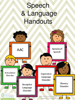 Speech and Language Handouts for Parents and Teachers