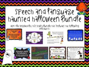 Speech and Language Haunted Halloween Bundle