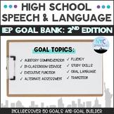 Speech and Language High School IEP Goal Bank-2nd Edition