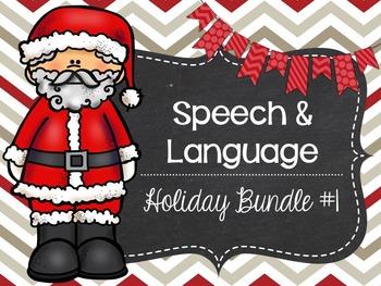 Speech and Language Holiday Bundle #1