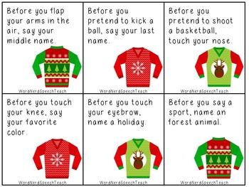 Speech and Language Holiday Bundle #2