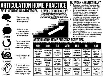 Speech and Language Home Practice