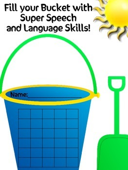 Speech and Language Incentive Chart. Be a Bucket Filler!