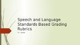 Speech and Language L.1-4  SL.2-6 Standards Based Grading Rubrics