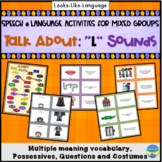 L Articulation & Language Games: 95 Picture Cards & WH Questions