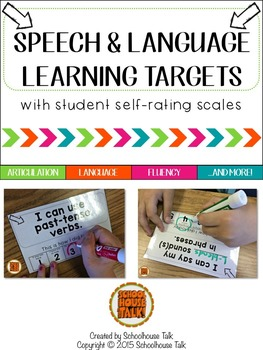 Editable Speech and Language Learning Targets {I Can Statements}