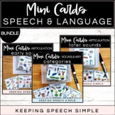 Speech and Language Mini Cards - Bundled Set