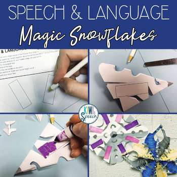 Speech and Language Magic Snowflakes FREEBIE