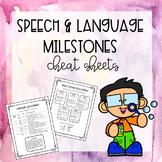Speech and Language Milestones