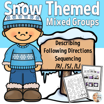 Speech and Language Mixed Groups with a Snow Theme