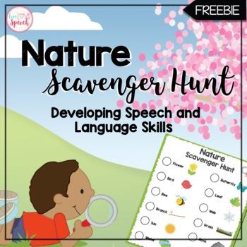 Speech and Language Nature Scavenger Hunt {FREEBIE}