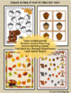 Speech Therapy Fall Picture Activities | Squirrel and Acorn Games