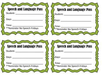 Speech and Language Passes
