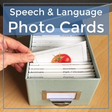 Photo Cards Growing Bundle Speech, Language, Vocabulary, ELL, Phonemic Awareness