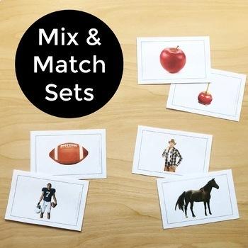 Photo Cards Growing Bundle Speech, Language, Vocabulary, ELL, Phonemic Awareness