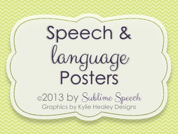 Speech And Language Posters By Sublime Speech Teachers