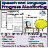 Speech and Language Progress Monitoring for Multiple Grades