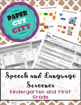 Speech and Language Screener for K-1