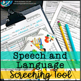 Speech and Language Screening Tool - Grab and GO!