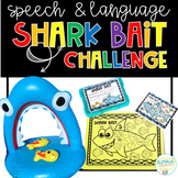 Speech and Language Shark Bait Challenge - Includes both PDF & BOOM CARDS