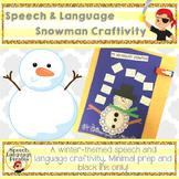 Speech and Language Snowman Craftivity