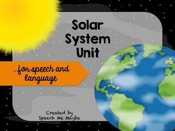 Speech and Language Solar System Unit