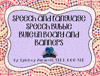 Speech and Language Speech Bubble Bulletin Board and Banne