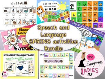 Speech and Language Spring Activities Bundle!