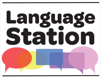 Speech and Language Station Posters