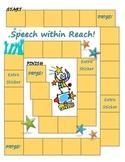 Speech and Language Sticker Chart Theme 2-Reach for Speech