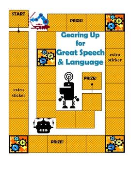 Speech and Language Sticker Chart Theme 5-Gearing Up for Great Speech