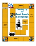 Speech and Language Sticker Chart Theme 5-Gearing Up for G