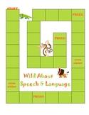 Speech and Language Sticker Chart Theme 4-Wild About Speech