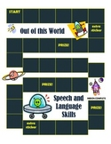 Speech and Language Sticker Chart-Theme 6 Out of this World Speech!