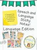 Language: Sticky Notes