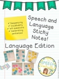 Speech and Language Sticky Notes: Language Edition