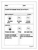 Speech and Language Student Evaluation Form