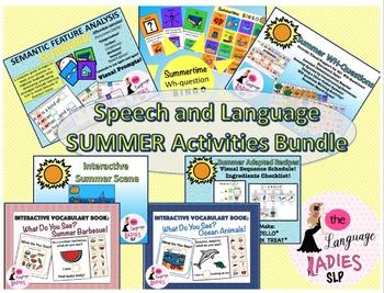 Speech and Language Summer Activities Bundle