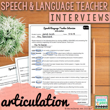 Speech and Language Teacher Interview - ARTICULATION {for Educational Impact}