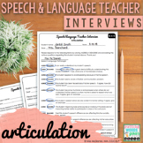 Speech and Language Teacher Interview - ARTICULATION {for
