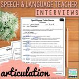 Speech and Language Teacher Interview | ARTICULATION for E